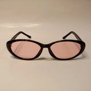 Vintage 90's Plastic Oval Lady Fashion Sunglasses